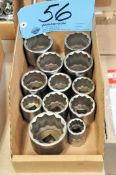 "Lot-3/4"" Drive Sockets in (1) Box"