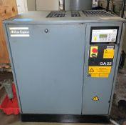 Atlas Copco Type GA 22, 30-HP Rotary Screw Air Compressor
