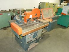EMA MODEL FV110 SHAPER AND 4 WHEEL FEEDER SYSTEM, PNUEMATIC CLAMPING, E-BRAKE