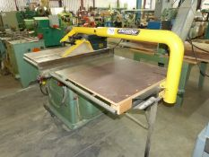 "GENERAL 10"" TABLE SAW, 24"" GAUGING SYSTEM, TILTING BLADE, WITH EXCALIBUR DUST COLLECTOR ARM ONLY"