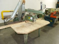 "COMMERCIAL 3' RADIAL ARM SAW, 14"" BLADE CAPACITY 550 VOLTS"