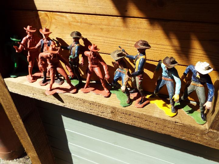 Lot 268 - Marx - ten Coyboy figures, various up to 14.