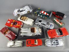 Franklin Mint, Maisto, Bburago, Polistil, Solido - 11 unboxed diecast model cars in various scales.