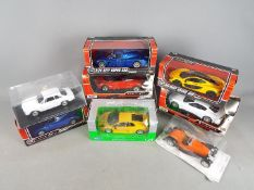 Welly, Motor Max, Leo Models, Other - Eight boxed 1:24 scale diecast model cars.