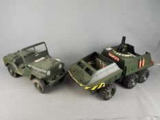 Hasbro, Action Man - Two vintage unboxed Action Man vehicles.