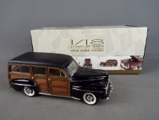 Lucky Diecast - A boxed 1:18 scale Lucky Diecast Signature Series 1948 Ford Woody.