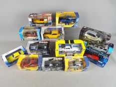 Welly, Jada, New Ray, Other - 13 boxed diecast model cars in various scales.