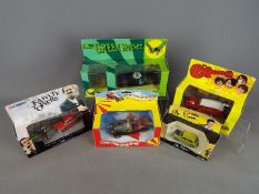 Corgi - Five boxed TV related diecast model vehicles by Corgi.