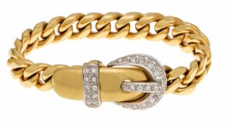 Wempe Brillant-Armband GG/WG 750/000 mit 40 Brillanten, zus. 1,10 ct TW/VS, mitangefertigter