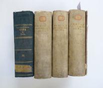 HIPPOCRATES. Opera omnia. Ed. C.G. Kühn. Lpz., C. Knobloch, 1825-27. 3 vols. Cont. h. vellum. (Upper