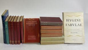 HYGINUS. Fabulae. Rec., proleg. comm. append. instr. H.I. Rose. 1963. Ocl. w. dust-j. -- ISIDORUS.