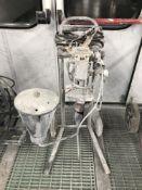 A paint spray cart