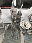 A Binks paint spray cart