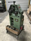 1999 BPR CP30P2V section bending rolls, serial no. 99F0018 mounted on a dolly