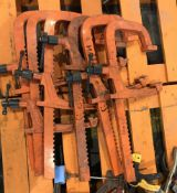 6 Carver rack clamps, approx 640mm long