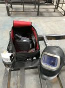 3M Speedglas 9100 air respirator welding helmet with Adflow battery pack, charger and bag