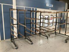 4 large, heavy duty mobile drying racks