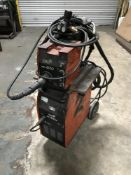 SWP MIG 300S + WF400 welding set with regulator, torch, hose and trolley