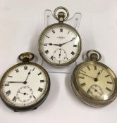 Pocket Watches (3) to include a Kays Standard Lever