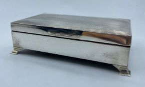 Silver Cigarette Box 1950s Birmingham in very good condition, 368g and 15x9cm approx