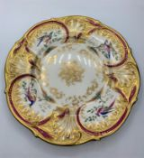 H&R Daniel 'Savoy plate' circa 1840, pattern no 8751 in good condition, no restoration, 24cm