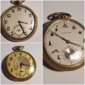 Rare collection of 3x Dudley Masonic Skeleton Pocket watches series 1, 2 and 3 (3)
