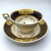 H&R Daniel Bell shape Cup & Saucer circa 1830 (2)
