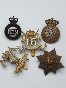 5 x British Army Cavalry Cap Badges (5)