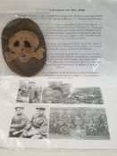 WW1 German Flammen Werfer (Flame Thrower) Troops Other Ranks Sleeve Badge. With write up