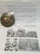 WW1 German Flammen Werfer (Flame Thrower) Troops Officers Sleeve Badge. With write up