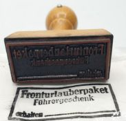 WW2 German Army Field Post Office Rubber Stamp ?Gift Packet For the Front Line?