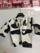 COW PATTERN CHILD RAINCOAT - SIZE 4T
