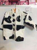 COW PATTERN CHILD RAINCOAT - SIZE 2T