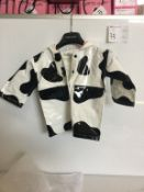 COW PATTERN CHILD RAINCOAT - SIZE 6/6X