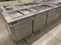 "84"" X 32"" STAINLESS STEEL - BUFFET FOOD WARMER STATION W/5 x INSERTS"