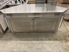 "81"" X 32"" STAINLESS STEEL - BUFFET CABINET"