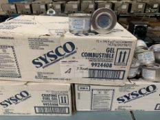 SYSCO - COMBUSTIBLE GEL - 3 BOXES x 72 PCS