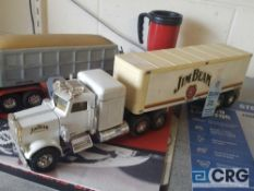 Semi truck, Jim Beam decanter, full with original seal.