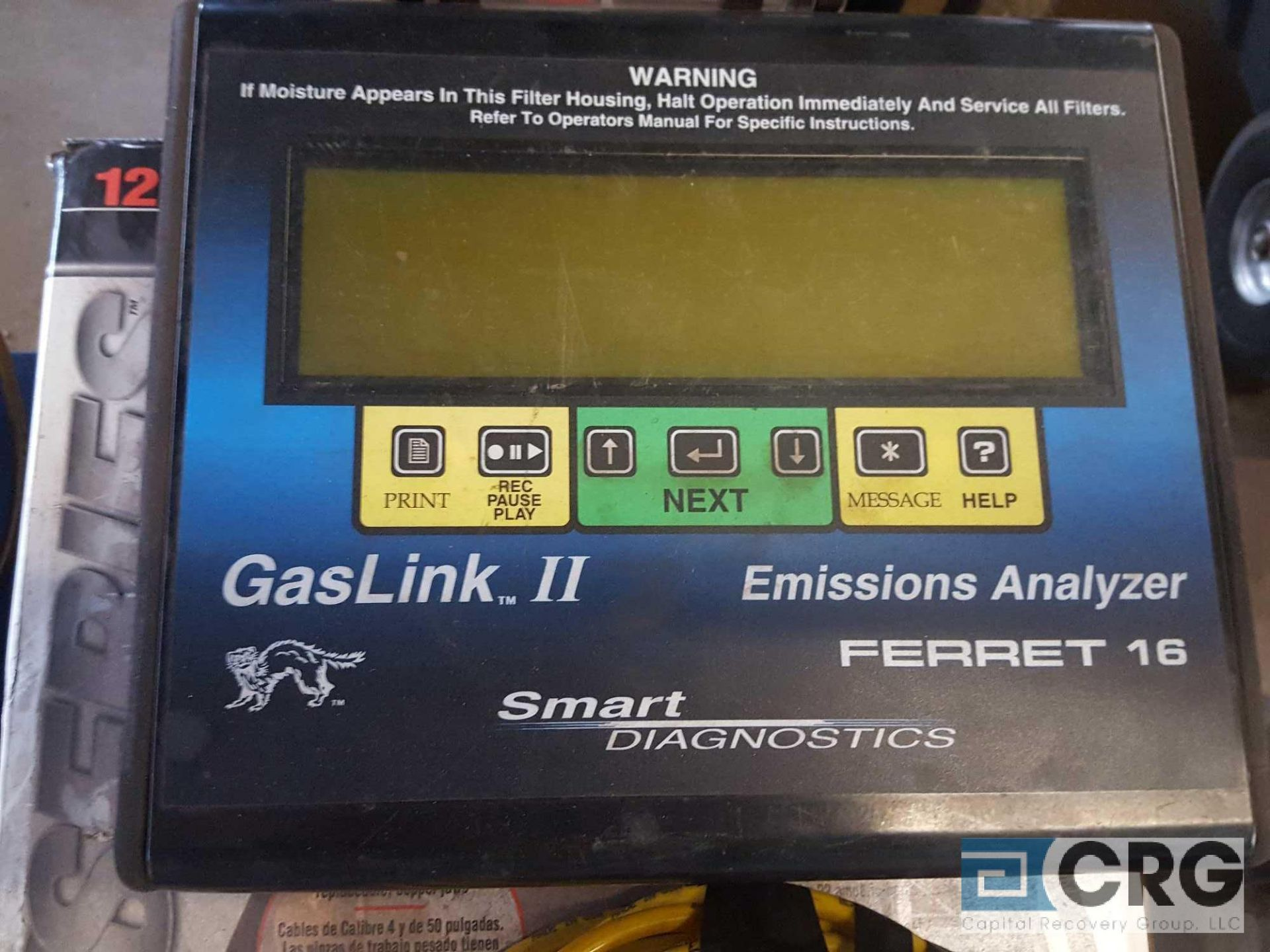 Proseries Gas Link II Emissions Analizer , FERRET 16 - Image 2 of 3