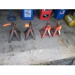 Lot of (4) assorted jack stands