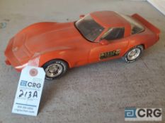 1978 Corvette Hard Top, Jim Beam decanter, full with original seal