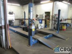 Rotary 5M123-10 4 post hydraulic auto lift, 12,000 cap., s/n SEG00C0063 - does not include air jack