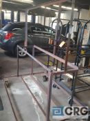 Lot of (2) portable tire stands.