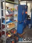 Lot of (5) assorted metal cabinets and (1) metal shelving unit - NO CONTENTS