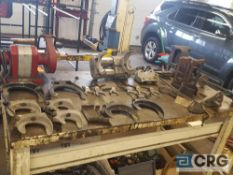 Lot of assorted coil spring compressors, (1) pneumatic CV boot installers , and (1) puller etc.