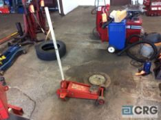 Mfg unknown, portable hydraulic floor jack, 2 ton capacity.