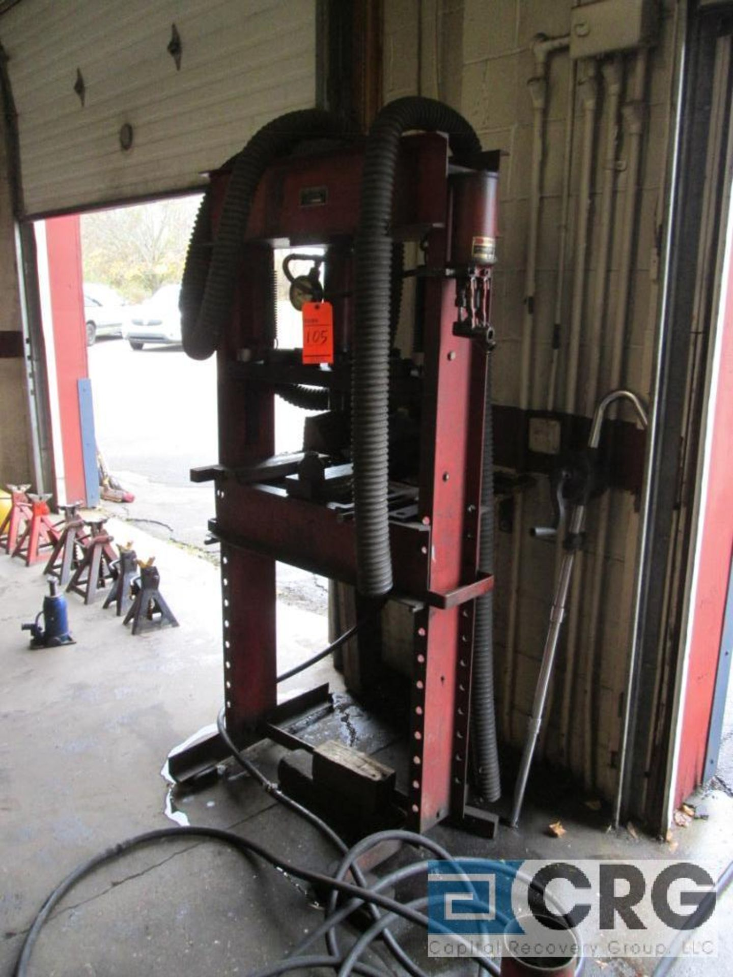 Red Arrow Tow Bar Mfg. Co. hydraulic press, H-frame type, 20 ton cap., m/n, s/n not available - Image 2 of 3