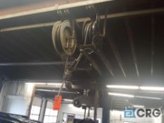 Lot of assorted retractable lubricant hose reels. (Buyer is responsible to take down).