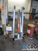 Pittsburg Automotive portable engine crane with 2 ton cap. Hydraulic jack
