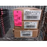 Lot of (3) boxes of GE ballasts (10) per box, variety of styles